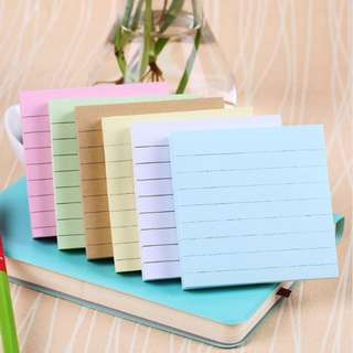 Square COLOURFUL sticky note/post-it pad/adhesive memo