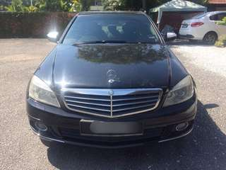 SAMBUNG BAYAR/CONTINUE LOAN  MERCEDES BENZ C200 KOMPRESSOR YEAR 2008/2009 MONTHLY RM 1100 BALANCE 5 YEARS ROADTAX VALID TIPTOP CONDITION  DP KLIK wasap.my/60133524312/c200