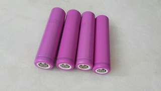 4x 16650 3.7v rechargeable batteries