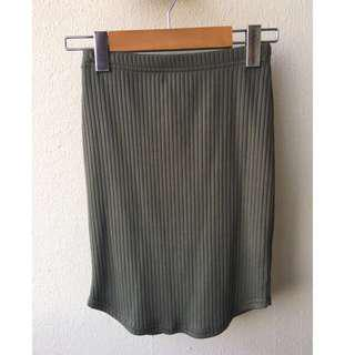 Urban Planet Ribbed Mini Skirt