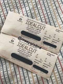 SEVENTEEN Ideal Cut in KL Concert Ticket