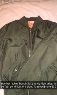 atmos&here bomber jacket