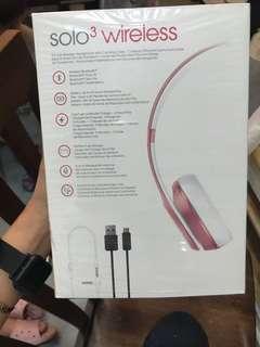 beatssolo3 wireless粉紅色