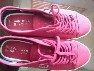 LACOSTE Women Shoes Maroon (ziane sneaker)