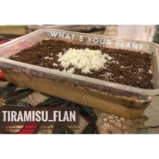 Tiramisu flavored leche flan!