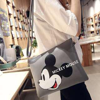 ❤️Ready stock❤️ Cartoon Printed PU Sling Bag for Kids