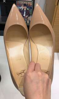 Christian Louboutin Heels - Nude color, Size 39, 95% new