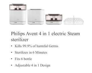 🚚 Philip Avent 4 in 1 Steriliser