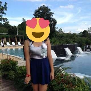 Forever21 Blue Skater Skirt