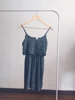 h&m navy polka dress