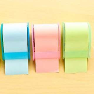 Tear-off ROLL TAPE sticky note/post-it pad/adhesive memo
