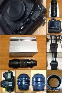 Nikon D800e Body, Tamron 70-200 2.8 vc, Nikon 50mm 1.4D, tuffcase hardcase