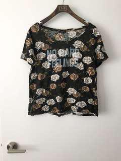 Aritzia Talula Floral T shirt