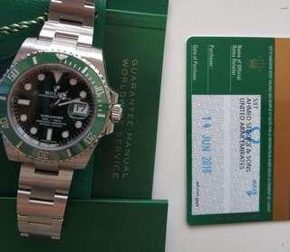 勞力士潛航者型系列116610LV-97200綠盤腕錶(綠水鬼)