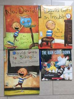 David Shannon's No, David! Series of 4 books