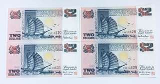 Singapore dollar $2 note