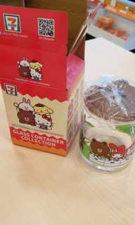 Sanrio Characters brown container from 711