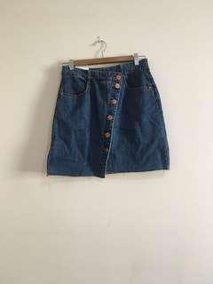 cotton on a-line denim skirt