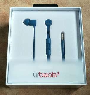 Brand New Sealed Urbeats3 3.5mm Blue