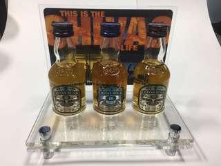 芝華士酒版三支連透明Acrylic架