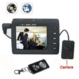 Button Camera With DVR Screen