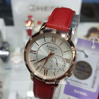 Montres Company香港註冊公司(25年老店) CASIO sheen SHE-3046 SHE-3046GLP SHE-3046GLP-7 SHE-3046GLP-7B 有現貨 SHE3046 SHE3046GLP SHE3046GLP7 SHE3046GLP7B