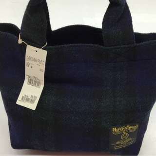 Harris Tweed日本復古女式簡约英倫哈里斯羊毛手拎包