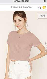Authentic f21 ribbed knit crop top