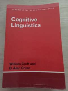 Cognitive Linguistics by William Croft and D. Alan Cruse