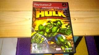 PS2 The Incredible Hulk Ultimate Destruction