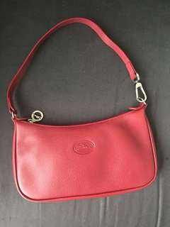 Longchamp Red Pouch Bag