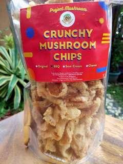 Crunchy mushroom chips Sour cream flavor