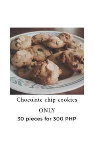 Chocolate chip cookies only (30 pieces)