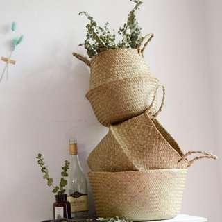 Seagrass Flower Basket Vase