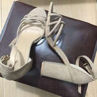 REPRICED!!! Nude Block Heels