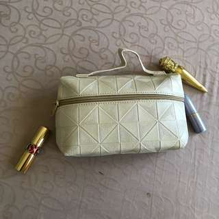 White make up pouch