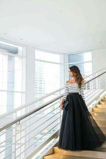 Terno top & skirt Gown