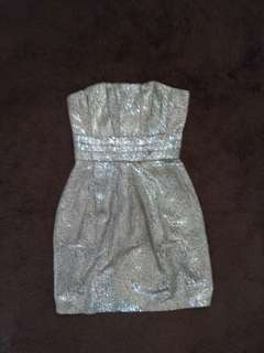 Silvery tube dress