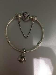 Pandora inspired set 925 silver