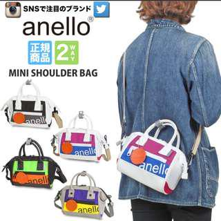 [Re-Stock] Japan Anello Boston 2 Way Sling Bag ~ Original 100% Authentic ☆Small (Mini) AT-B2792