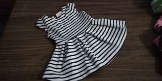 Fox Kids Black & White Stripe Dress