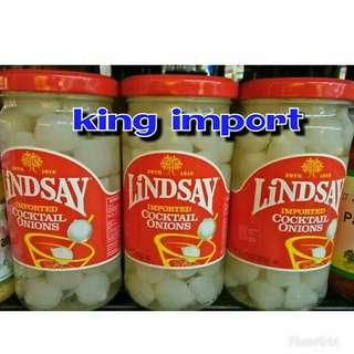 Lindsay Cocktail Onion Import Acar Bawang Putih 205 gr