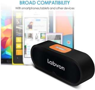 (403) Labvon Bluetooth Speaker with Louder Volume 10w+ More Bass Buit-in Mic Dual-Driver Portable Wireless Speaker for iPhone7/6 plus/6/Samsung and more