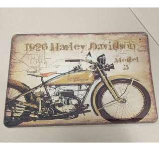 Sign Harley Davidson metal design
