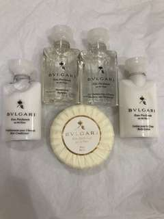 Brand new travel size BVLGARI au de blanc eau de parfume toiletries set