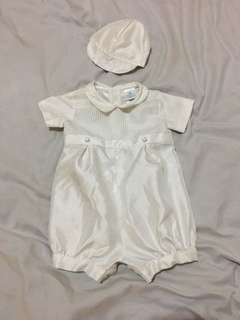 Christening Attire for Baby boy 6-9mos Used Once