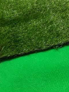 Karpet polos hijau uk 5meter +karpet rumput sintetis uk 2m