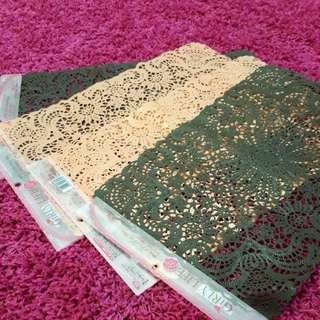 (NEW) Lace Table Mats (4 Pieces)
