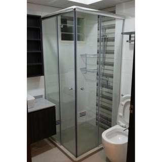 L Shape Sliding Shower Screen - For HDB/BTO at $580 (Call96177025)