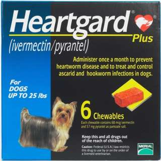 🚚 MAILED $30 HEARTGARD PLUS exp 2020 (ivermectin/pyrantel) for dogs of all sizes (MADE in USA) 6pcs